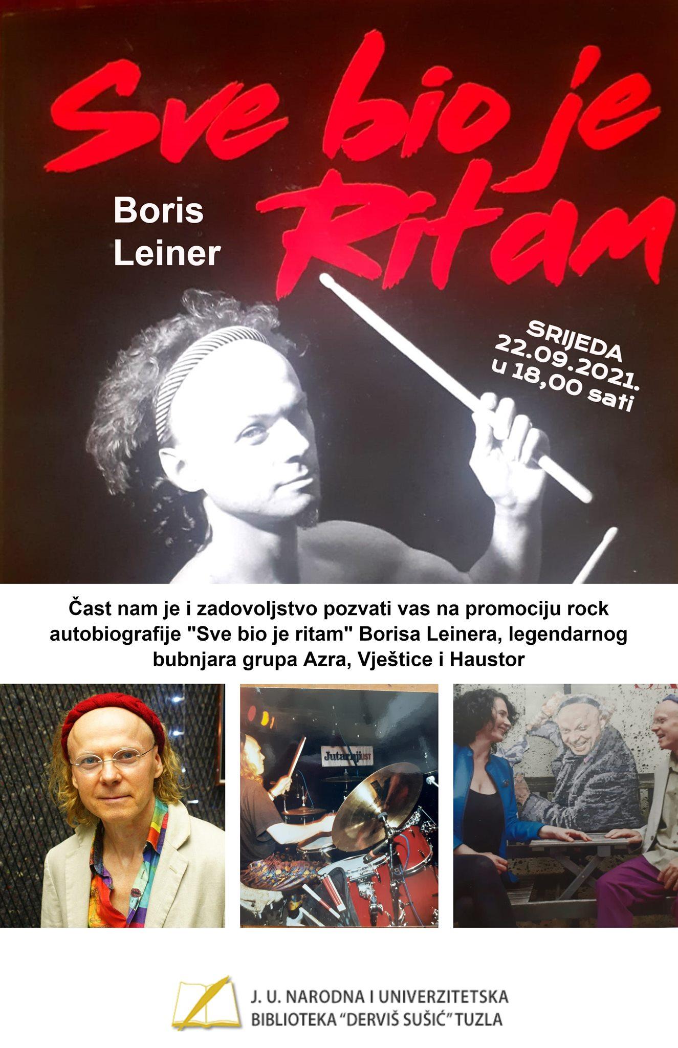 """Najava promocije knjige """"Sve bio je ritam"""" Borisa Leinera"""